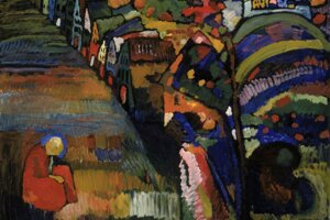 Obraz Bild mit Häusern, ktorý namaľoval Vasilij Kandinskij