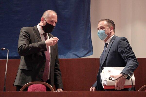 Primátor Košíc Jaroslav Polaček a riaditeľ magistrátu Marcel Čop.