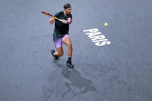 Rafael Nadal na ATP 1000 Masters v Paríži.