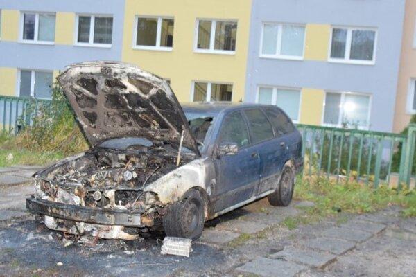 Auto na Dvorkinovej ulici podpálili.