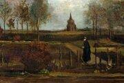 Vincent van Gogh: Jarná záhrada v Nuenen (1884)