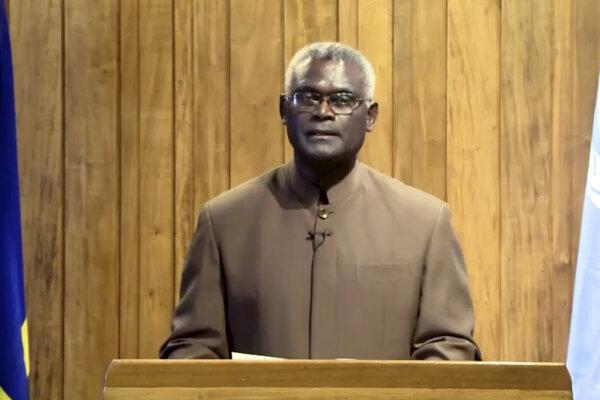 Predseda vlády Šalamúnových ostrovov Manasseh Sogavare.