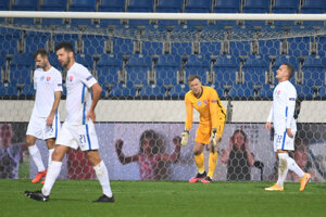 Momentka po zápase Česko - Slovensko, Liga národov UEFA.