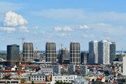 Pohľad na bratislavský downtown.
