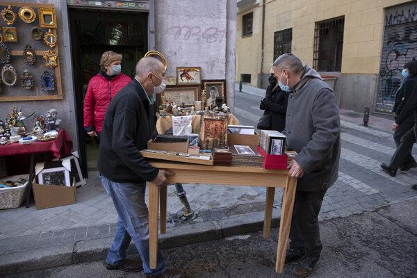 Starodávny blší trh Rastro.