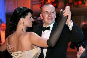 Šéfa parlamentu Borisa Kollára v nemocnici najviac navštevovala bývalá manželka Linda Rezešová. Na fotografii sú na plese v Opere v roku 2008.
