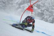 Adam Žampa počas obrovského slalomu v Santa Caterina 2020.