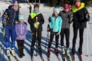 Praveneckí biatlonisti so sestrami Fialkovými.