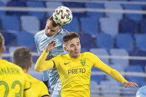 Momentka zo zápasu Slovan Bratislava - MŠK Žilina.