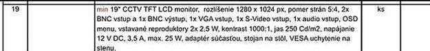 Tender pošty obsahuje nielen rovnaké parametre, ale sú aj rovnako usporiadané ako u slovenského dodávateľa.