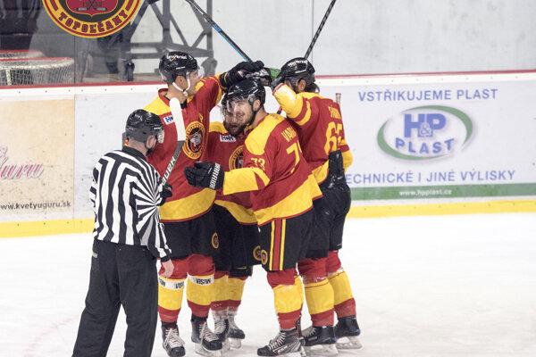 Hokejisti HC Topoľčany.