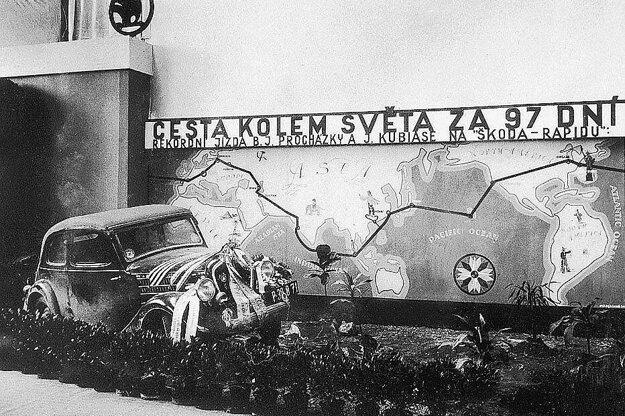 Škoda Rapid prešla v roku 1936 trasu 27 700 kilometrov a zavítala do 15 krajín.