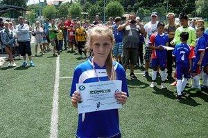 Cenu pre najlepšieho hráča turnaja získala Rebecca Horňáková z Lapáša.