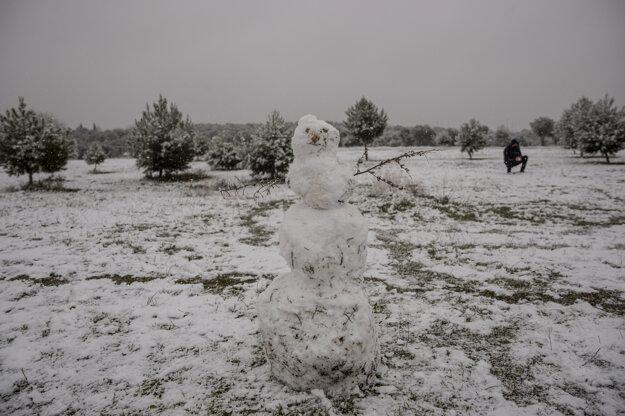 Snehuliak v oblasti  Rivas Vaciamadrid.