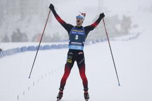 Sturla Holm Laegreid po víťazstve v Oberhofe.