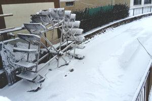Zamrznuté mlynské koleso na Pereci v Leviciach.