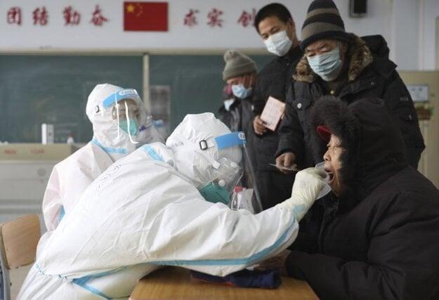 Testovanie na koronavírus v čínskej provincii Liaoning