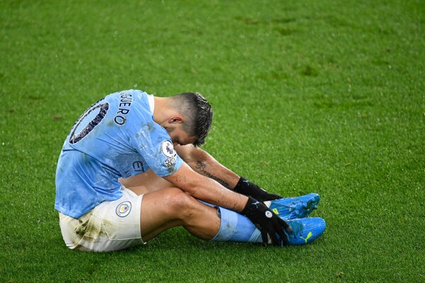 Sergio Agüero v drese Manchester City.
