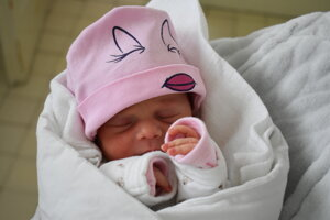 Linda Duffeková (2550 g, 48 cm) sa narodila 4. januára Márii z Potvoríc.