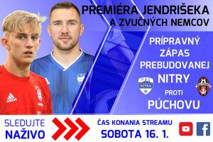 Prípravný futbalový zápas FC Nitra - MŠK Púchov, 16.1. o 14:00 môžete sledovať naživo cez náš YouTube kanál MY Noviny.