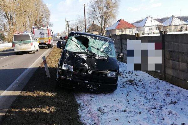 Nehoda v Telinciach.