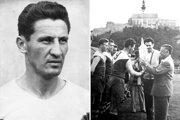 Michal Pucher (1931 - 1999) je najlepším strelcom Nitry v čsl. lige. Na snímke vpravo preberá pohár pre najlepšieho strelca sezóny 1959/60.