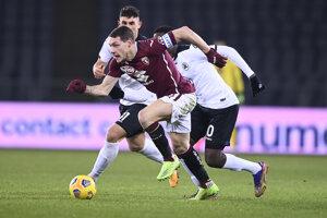 Momentka zo zápasu FC Turín - Spezia.