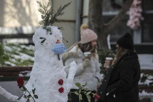 Sneh pokryl väčšinu tureckého mesta Istanbul.