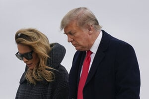 Prezident Trump s manželkou Melaniou.