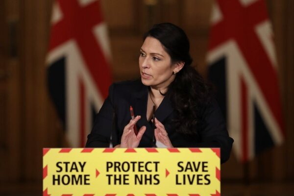 Priti Patelová, britská ministerka vnútra.