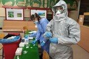 Testovanie v priestoroch základnej školy na sídlisku Klačno v Ružomberku.