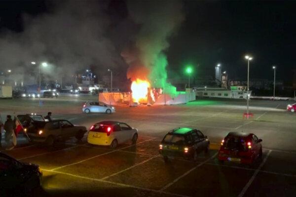 Požiar testovacieho miesta.