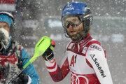 Marco Schwarz po nočnom slalome v rakúskom Schladmingu.