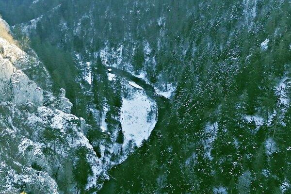 Výhľad z Ihríka, najteplejšieho miesta Slovenského raja.
