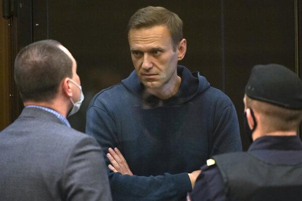 Alexej Navaľnyj na súde.