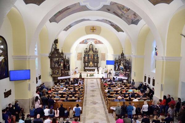 Slávnostné požehnanie kostola.