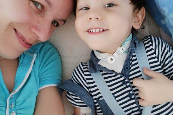 Sebastiánko s maminou Mirkou.