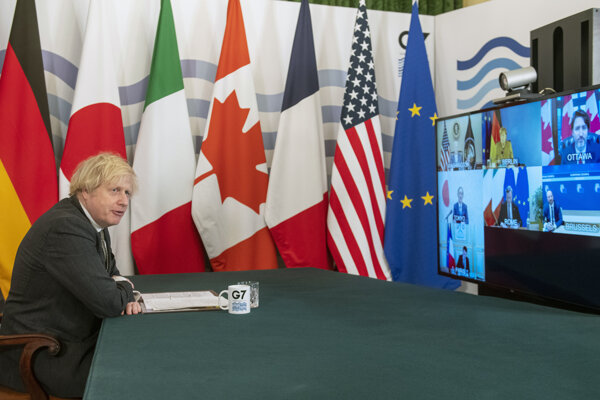 Boris Johnson na summite G7.