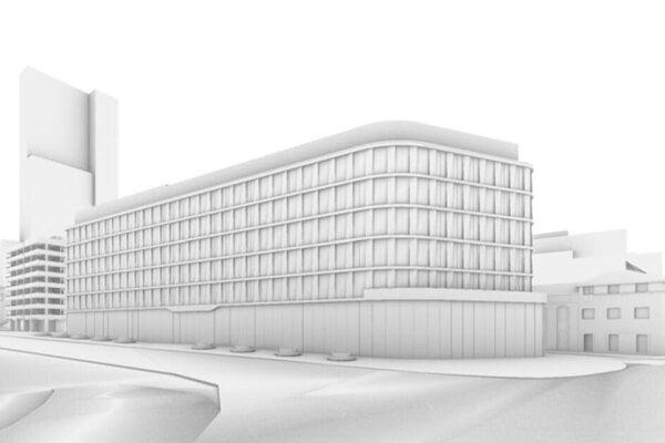Vizualizácia projektu Florian Offices.
