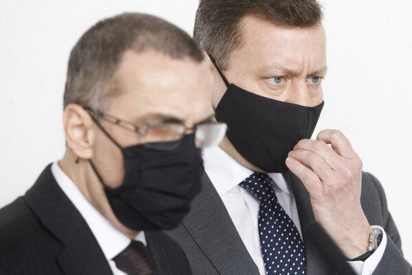 Generálny prokurátor Maroš Žilinka a špeciálny prokurátor Daniel Lipšic.