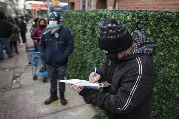 Zamestnanec komunitného centra v Brooklyne.