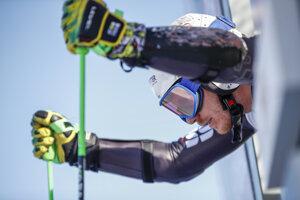 Adam Žampa v obrovskom slalome v Bansku.