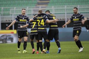Radosť hráčov Inter Miláno.