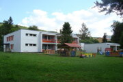 Škôlka v Gelnici na Hlavnej ulici po rekonštrukcii.