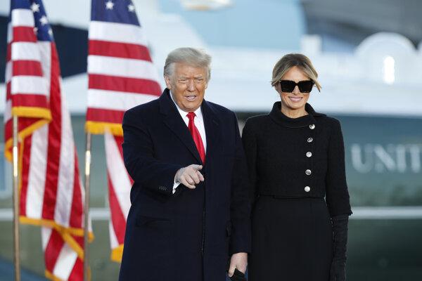 Bývalý prezident USA Donald Trump s manželkou Melaniou.
