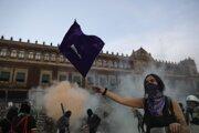 Demonštrácia v Mexico City.