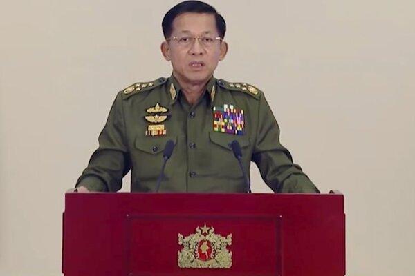 Min Aun Hlain, veliteľ mjanmarskej armády