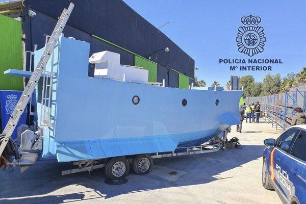 Zhabané ponorné plavidlo v španielskej Malage.