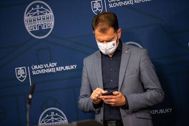 9. december 2020. Predseda vlády Slovenskej republiky Igor Matovič počas prezentácie plánu opatrení.