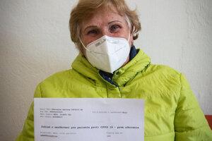 Viera Mráziková sa na očkovanie objednala sama.